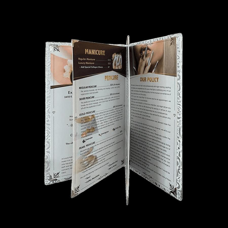 Menu, VNailPro, Design Menu, thiết kế menu