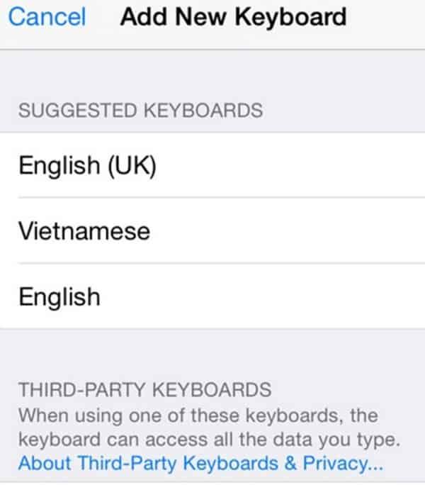 Gõ tiếng Việt có dấu trên iPhone