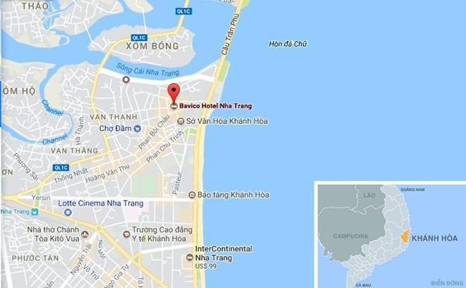 Khách sạn Bavico Nha Trang, phường Xương Huân, TP Nha Trang, Khánh Hòa.