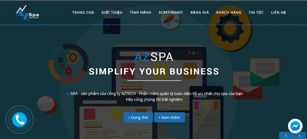 Phần mềm quản lý tiệm nail AZSPA