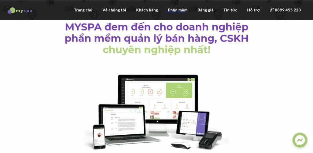 Phần mềm quản lý tiệm nail Myspa