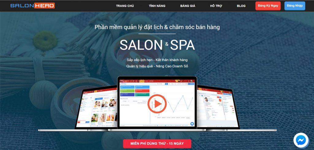Phần mềm quản lý tiệm nail SalonHero