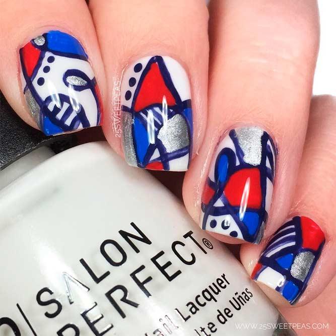 Phong cách móng ngày Quốc Khánh Mỹ