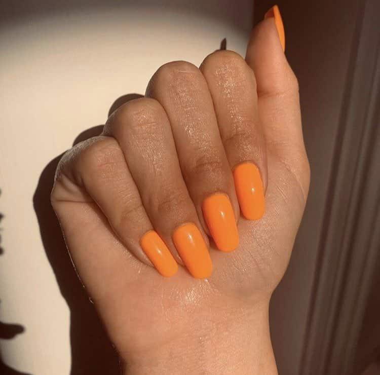 selena tangerine orange nail