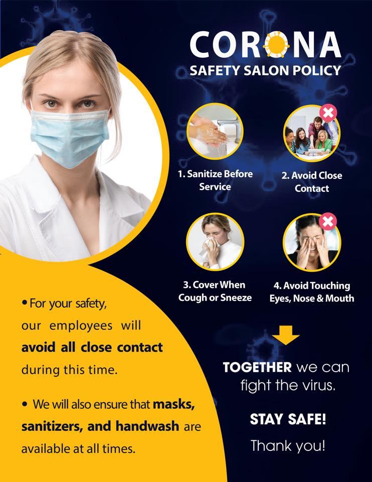 Corona Safety Salon Policy