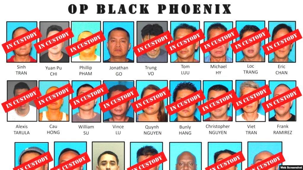 """Chiền dịch """"Phượng hoàng đen"""": FBI bắt nhiều nghi phạm gốc Việt buôn lậu súng và ma túy"""