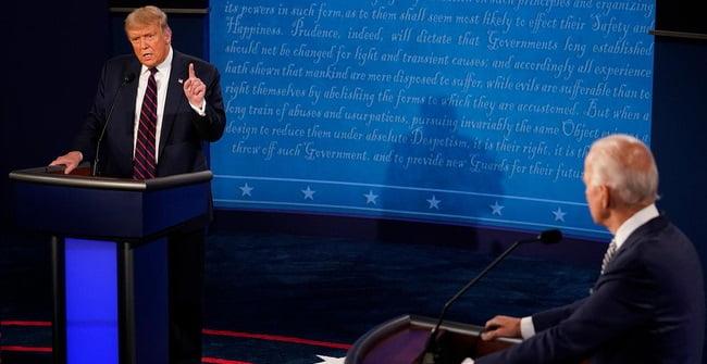 Tranh luận bầu cử Mỹ 2020: Luận điểm đáng chú ý của 2 bên.
