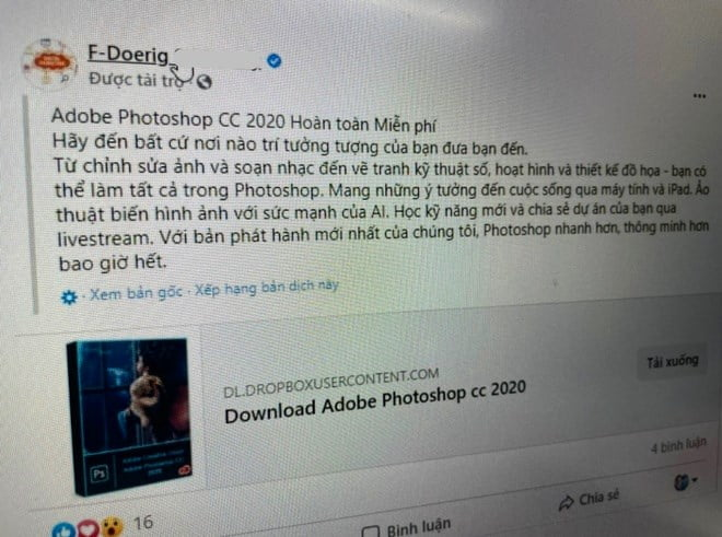 Mất tài khoản Facebook vì bấm vào quảng cáo
