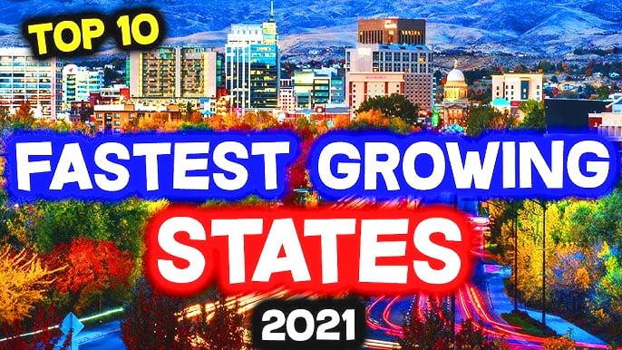 10 Bang phát triển nhanh nhất Hoa Kỳ năm 2021